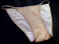 Women Panties,Bikinis Size M/6 Beige Metallic W/decoration HongKong