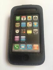 Belkin Black Leather Case Clip Cover & LCD Protector For iPhone 3G 3GS F8Z467