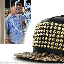 Bigbang G-Dragon Studded Rivet Snapback Baseball Adjustable K-Pop Star Hats Caps