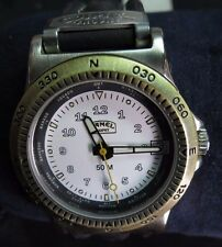 New NOS Camel Trophy Men's Watch Quartz White Dial Leather Strap 661.1000-1019