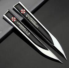 2pcs Auto Metall Schriftzug Aufkleber Embleme für Dolch Umbrella schwarz NEU