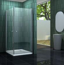 BANHO 100 x 100 cm Glas Duschkabine Eckeinstieg Dusche Duschwand Duschabtrennung