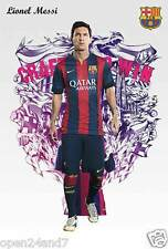 """LIONEL MESSI """"CRAFTED TO WIN"""" POSTER - Football, FC Barcelona, Argentina Soccer"""