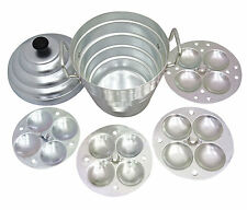 Aluminum Idli Cooker 4 Separator Idly With Handle Kitchenware Snack Steamer