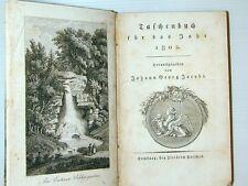 Jacobi Taschenbuch Jahr 1802 Ansichten Schleswig Holstein Kupferstich Noten