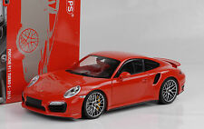 2013 Porsche 911 991 Turbo S  red rot 1:18 Minichamps