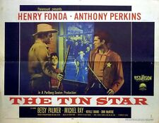 TIN STAR 1957 Henry Fonda, Anthony Perkins, Betsy Palmer US HALF SHEET POSTER