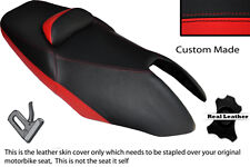 BLACK & RED CUSTOM FITS YAMAHA T MAX XP 500 01-07 DUAL LEATHER SEAT COVER
