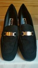 New Womens Rockport Strasbourg Shoes Loafer BLACK Suede Leather Size 10W