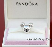 Authentic Pandora Mickey Mouse Disneyland 60th Anniversary S 925 Ale Charm