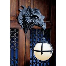 Marshgate Castle Wall Dragon Electric Lamp Ball Sconce Statue Plaque Medieval