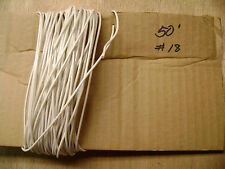 50 Feet of 18 Gauge White Coated Solid Copper Wire