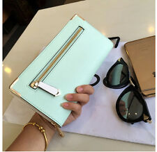 Women Mint Green Clutch Bag Wallet Purse Credit Card Phone Holder Aldo