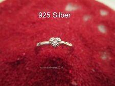 925 Silber- Herz- Ring- Zirkon Strass, Liebe, Freundschaft, Größenverstellbar