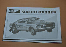 MPC 1/25 1967 FORD MUSTANG MALCO GASSER COMPLETE KIT INSRUCTIONS!