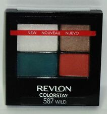 1 Revlon Color Stay 16 Hour Quad Eye Shadow In Sealed Compact WILD #587