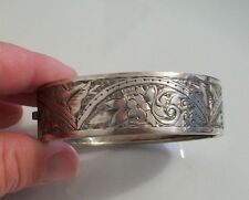 Antique Victorian sterling silver plated aesthetic bangle