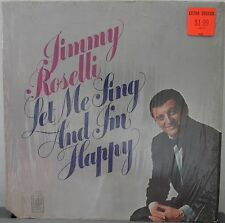 DISCO 33 GIRI - JIMMY ROSELLI - LET ME SING AND I'M HAPPY