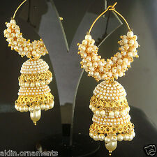 Indian Ethnic Gold Plated Bollywood Jumka Jumki Traditional Earrings FASHION EDH