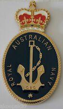 ROYAL AUSTRALIAN NAVY BADGE QC LARGE SIZE FOR PLAQUES FRAMING DISPLAY 95MM HIGH