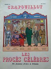 LE CRAPOUILLOT 1954 No SPECIAL LES PROCES CELEBRES de JEANNE D ARC à PETAIN