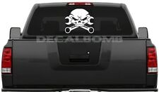 "Large Skull & Crossed Wrench decal / sticker 20"" x 17"" truck boat trailer 4x4"