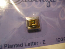 ESSENZA GOLD PLATED ITALIAN CHARM - LINKS TOGETHER MAKES A BRACELET - LETTER - E