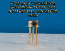 3PCS KC811 TESLA DUAL TRANSISTOR NPN SILICON DIFFERENTIAL  AMPLIFIERS GOLD PINS