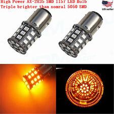 JDM ASTAR 2x 1157 BAY15D Amber AX-2835 SMD 12V LED  Car Turn Signal Light  Bulbs