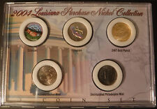 2004 Louisiana Purchase Nickel Collection Uncirculated Sealed 5 Coin Set D-P