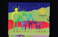 1994 UNC Coin SET Australia uncirculated wide date 50 cent variety
