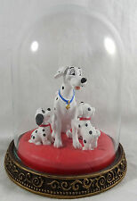 Disney 101 Dalmatians Dalmations Figurine Glass Bell Jar