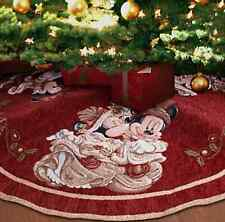 New Disney Parks Mickey and Minnie Mouse Victorian Holiday Christmas Tree Skirt
