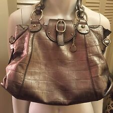 Lamarthe Silver Metallic Leather Handbag