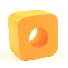Square Cube Mic Microphone TV Interview Logo Flag Station Sponge Orange