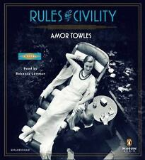 Rules of Civility: A Novel 2011 by Towles, Amor 0142429279