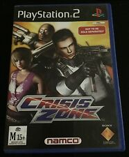 PlayStation PS2  Crisis Zone  With Gun Controller
