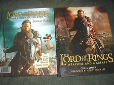LOT 2 BOOKS-LORD OF THE RINGS WEAPONS AND WARFARE & JIGSAW BOOK (6 JIGSAWS)