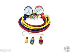 R134a R502a R22 R12 HVAC AC Manifold Gauges ACME Adaptor with Service Hoses Auto