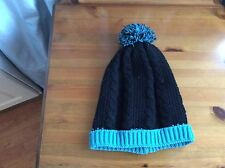 H&M Black And Turquoise Bobble Hat.. NWT