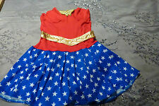 NEW ADULTS WONDER WOMAN SUPERHERO COSTUME FANCY DRESS- LADIES SIZE SMALL