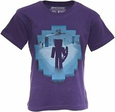 Minecraft T-shirt Mine Craft Tshirt Official EYE OF ENDER Youth |5-6 | PURPLE