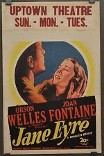 JANE EYRE 1944 ORIG 14X22 WINDOW CARD MOVIE POSTER ORSON WELLES JOAN FONTAINE