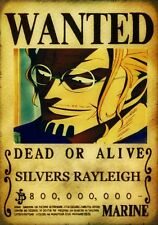 POSTER A4 PLASTIFIE-LAMINATED(1 FREE/1 GRATUIT)*MANGA ONE PIECE WANTED RAYLEIGHT