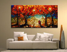 Modern abstract Wall Decor Oil Painting On Art Canvas,Red Tree(No Frame)
