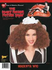 Magenta Rocky Horror Picture Show Brown Curly Fancy Dress Wig New