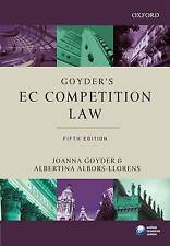 Goyder's EC Competition Law (Oxford European Community Law Library)-ExLibrary