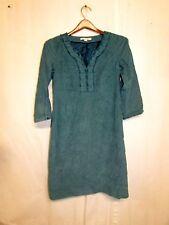 Women's BODEN 100% Cotton Turquoise Lined Dress sz: 8