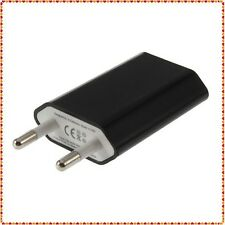 Black Universal 5V 1A EU 220V USB Wall Charger for  Cell Phones
