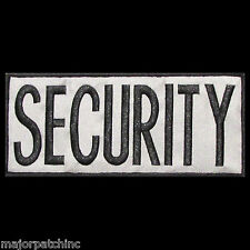 SECURITY BLACK GREY UNIFORM USA EMBROIDERED TACTICAL BACK PANEL VELCRO PATCH 3X7
